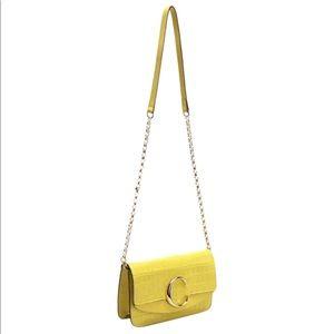 🔥🔥🔥NWT Chloe C Bag Croc-Embossed Calf Leather